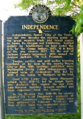 Independence Marker (Side A) image. Click for full size.