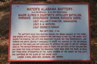 Water's Alabama Battery. Marker image. Click for full size.