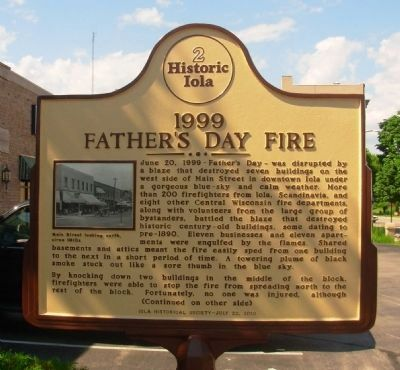 1999 Father's Day Fire Marker (side 1) image. Click for full size.