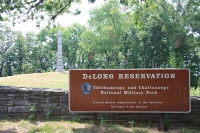 DeLong Reservation Sign image. Click for full size.