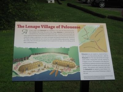 The Lenape Village of Pelouesse Marker image. Click for full size.