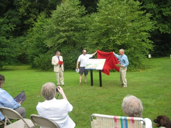 Unveiling of the marker, July 8, 2011 image. Click for full size.