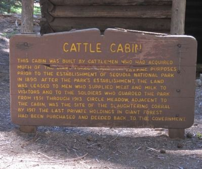Cattle Cabin Marker image. Click for full size.