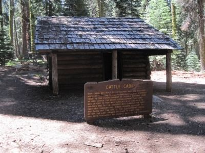 Cattle Cabin and Marker image. Click for full size.