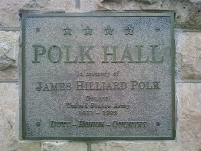 Polk Hall Marker image. Click for full size.