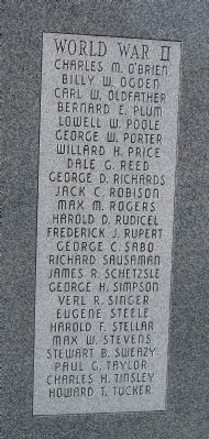 Right Second Panel - - Wabash County (Indiana) Honor Rolls Marker image. Click for full size.