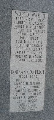 Right Third Panel - - Wabash County (Indiana) Honor Rolls Marker image. Click for full size.