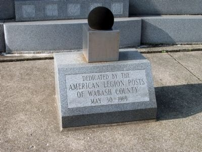 Dedication by Wabash County - - American Legion Posts image. Click for full size.