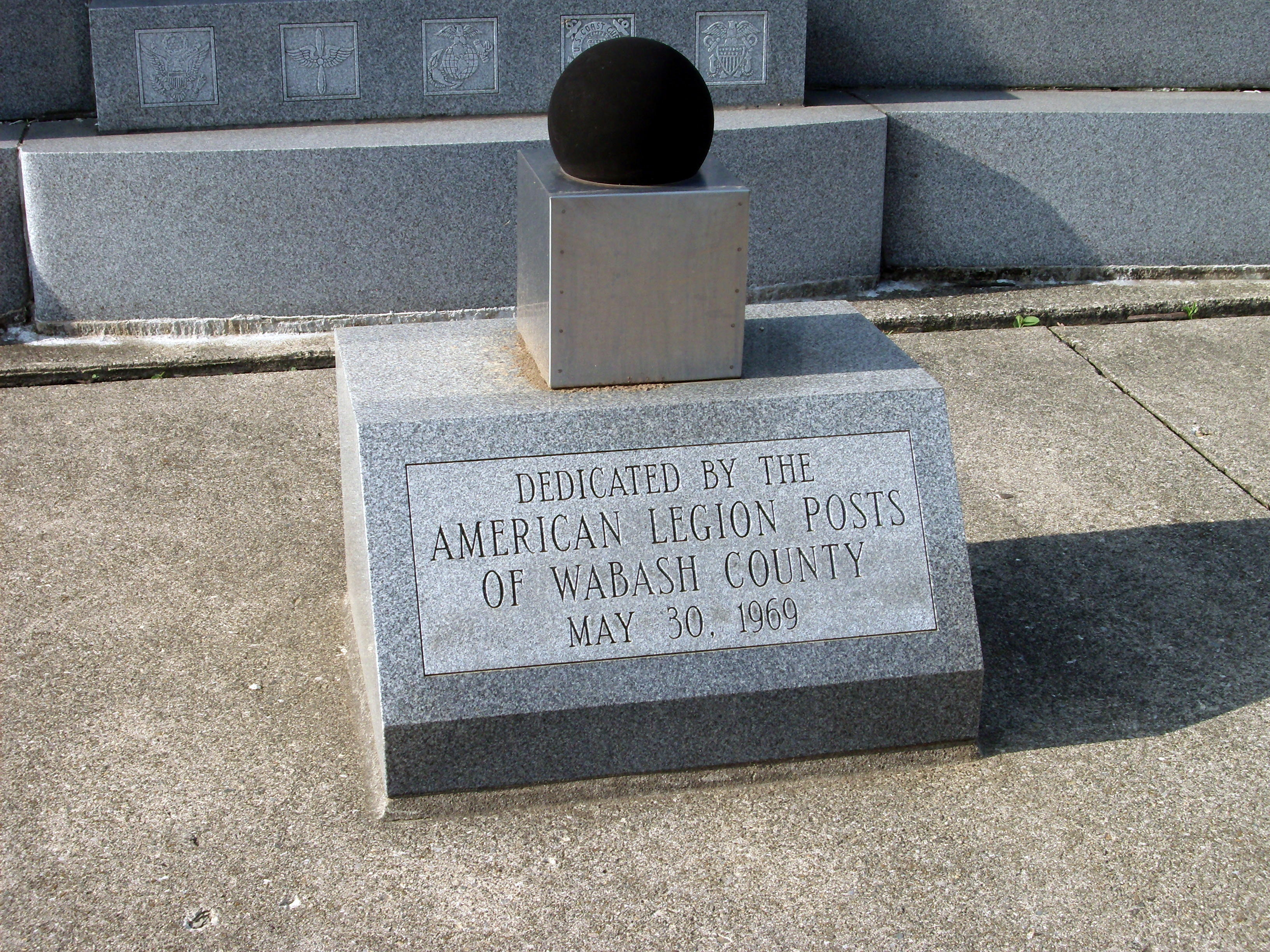 Dedication by Wabash County - - American Legion Posts