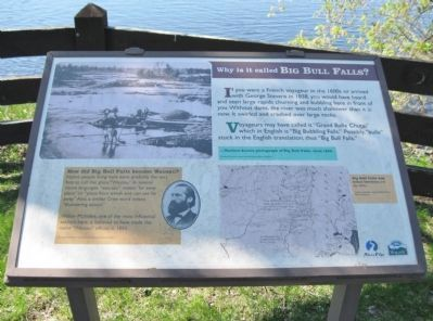 Why is it called Big Bull Falls Marker image. Click for full size.