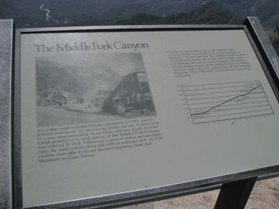 Middle Fork Canyon Marker image. Click for full size.