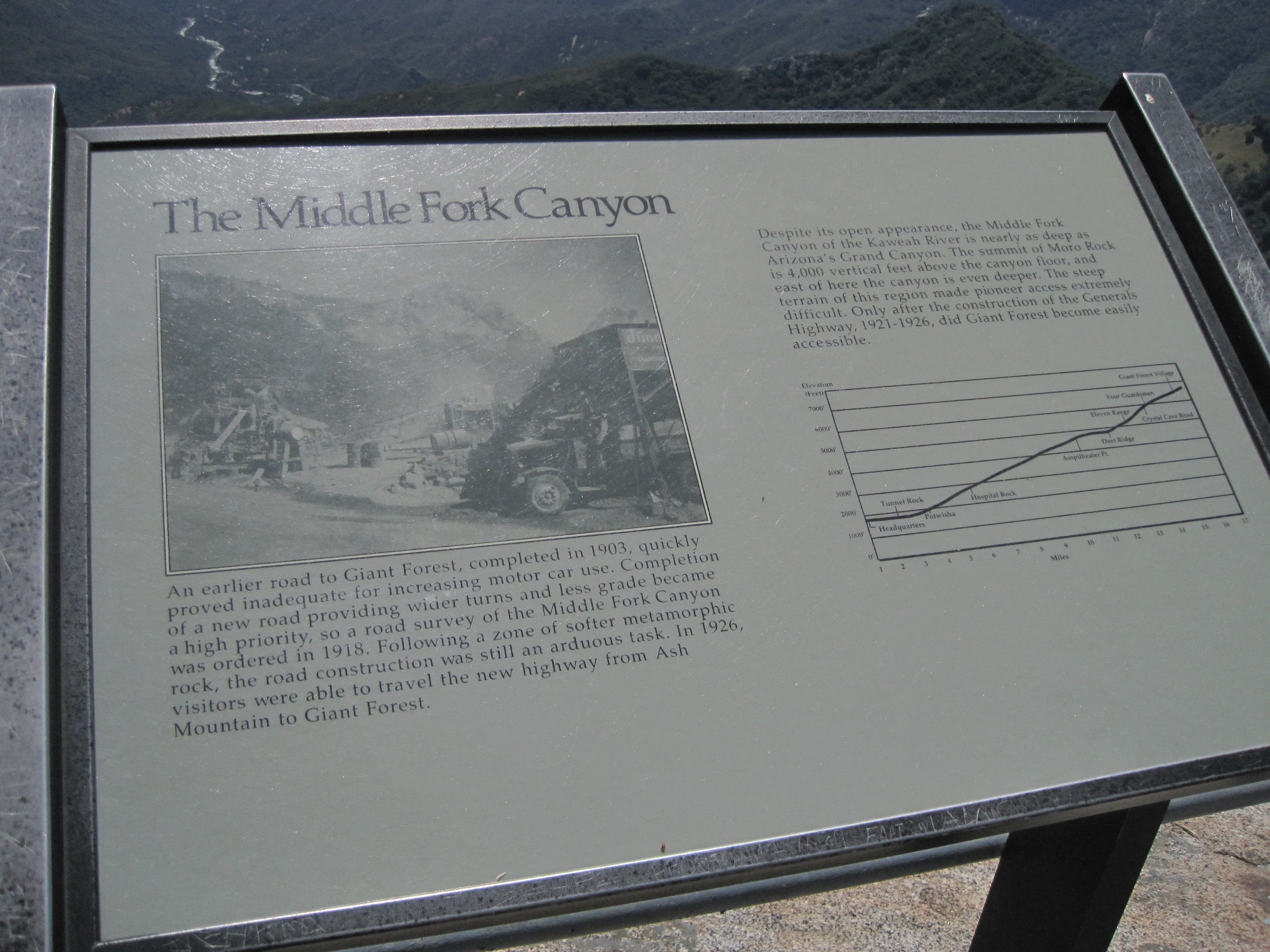 Middle Fork Canyon Marker
