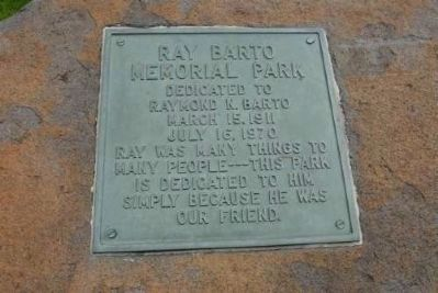 Raymond N. Barto Plaque image. Click for full size.
