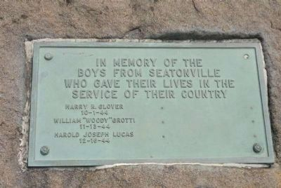 Boys from Seatonville Plaque image. Click for full size.