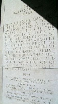 The Harry S. Truman Library Panel image. Click for full size.