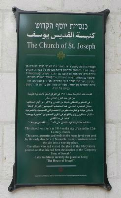 The Church of St. Joseph Marker image. Click for full size.