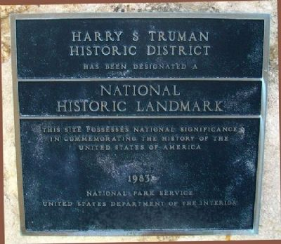 Harry S. Truman Historic District Marker image. Click for full size.