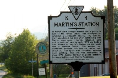 Martin's Station Marker image. Click for full size.