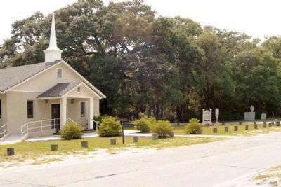 St. James Baptist Church and Marker, at Dillon Road and Beach City Road image. Click for full size.