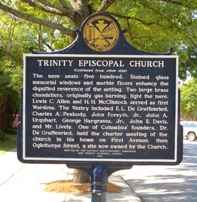 Trinity Episcopal Church Marker, SIde 2 image. Click for full size.
