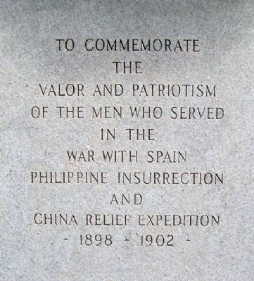 Spanish-American War/China Relief Expedition Monument image. Click for full size.