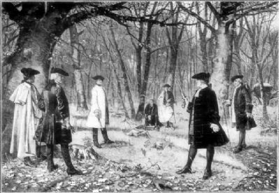Alexander Hamilton dueling with Aaron Burr image. Click for full size.