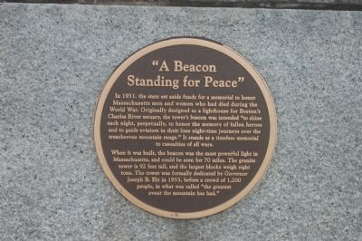 """A Beacon Standing for Peace"" Marker image. Click for full size."