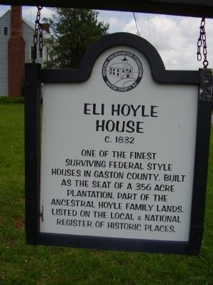 Eli Hoyle House Marker image. Click for full size.