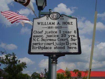William A. Hoke Marker image. Click for full size.