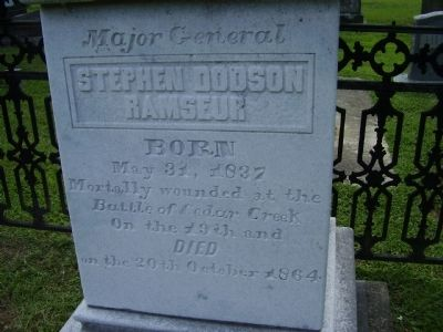 Grave Marker of Stephen D. Ramseur image. Click for full size.