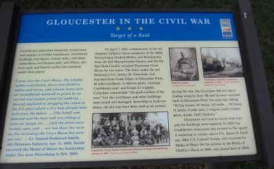 Gloucester in the Civil War Marker image. Click for full size.