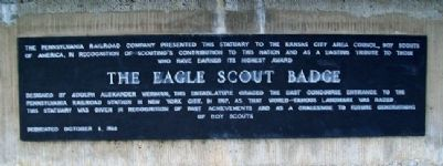 Eagle Scout Tribute Fountain Marker image. Click for full size.