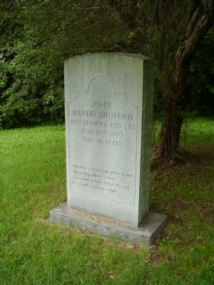 The John Martin Shuford Gravesite Marker image. Click for full size.