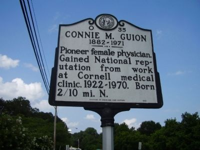 Connie M. Guion Marker image. Click for full size.