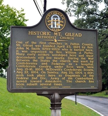 Historic Mt. Gilead Marker image. Click for full size.