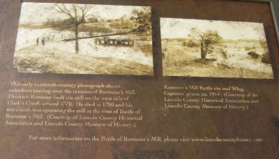 The Battle of Ramsour's Mill Marker image. Click for full size.
