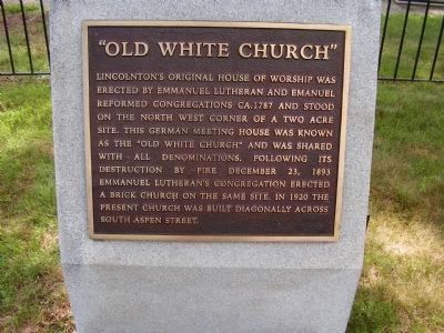 """Old White Church"" Marker image. Click for full size."