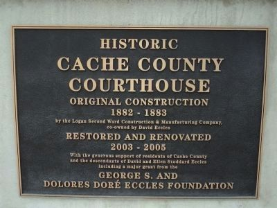 Cache Country Court House Marker image. Click for full size.