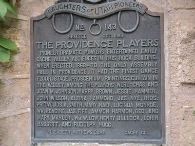 The Providence Players Marker image. Click for full size.