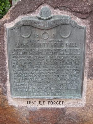 Cache Country Relic Hall Marker image. Click for full size.