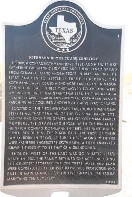 Kothmann Homesite and Cemetery Marker image. Click for full size.