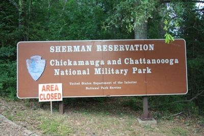 Sherman Reservation Sign image. Click for full size.