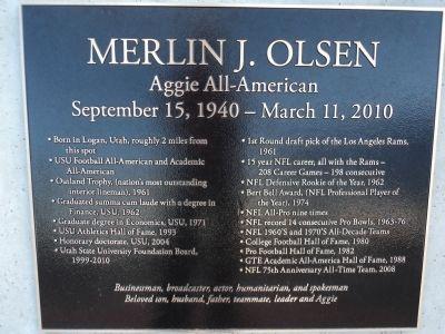 Merlin J  Olsen Historical Marker