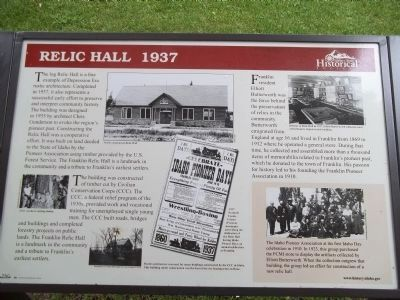 Franklin Relic Hall Marker image. Click for full size.