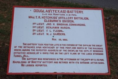 Douglas' (Texas) Battery Marker image. Click for full size.