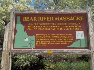 Bear River Massacre Marker image. Click for full size.