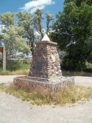 Bear River Massacre Monument image. Click for full size.