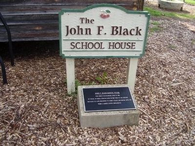 John F Black School House Marker image. Click for full size.