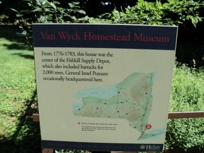 Van Wyck Homestead Museum Marker image. Click for full size.