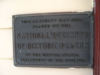 National Register of Historic Places Marker image. Click for full size.